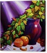 Still Life W/purple Vase Acrylic Print