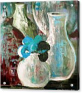 Still Life With A Blue Flower Acrylic Print