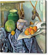 Still Life With A Ginger Jar And Eggplants Acrylic Print