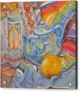 Still Life With A Mexican Blanket Acrylic Print