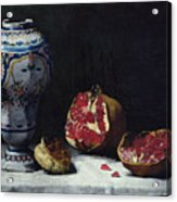 Still Life With A Pomegranate Acrylic Print