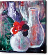 Still Life With A Red Flower Acrylic Print