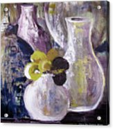 Still Life With A Yellow Flower Acrylic Print