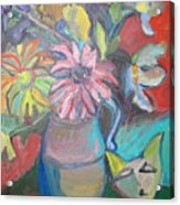 Still Life With An Abstract Cat Acrylic Print