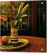 Still Life With Apple Acrylic Print