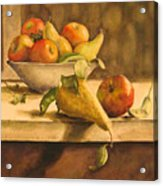 Still-life With Apples And Pears Acrylic Print