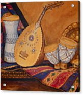 Still Life With Arabian Oud Acrylic Print