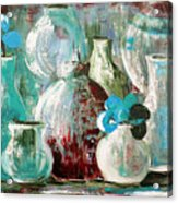 Still Life With Blue Flowers 2 Acrylic Print