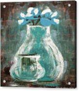 Still Life With Blue Flowers Acrylic Print