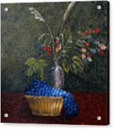 Still Life With Blue Fruit Acrylic Print