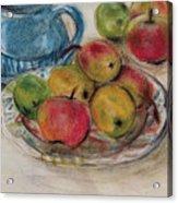 Still Life With Blue Teapot 2 Acrylic Print