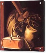 Still Life With Book And Purse Acrylic Print
