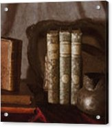 Still Life With Books Acrylic Print