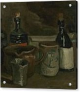 Still Life With Bottles And Earthenware Nuenen, November 1884 - April 1885 Vincent Van Gogh 1853  Acrylic Print