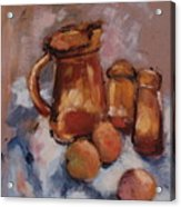 Still Life With Brown Pitcher Acrylic Print