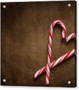 Still Life With Candy Canes Acrylic Print