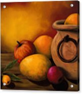 Still Life With Ceramic Pot Acrylic Print