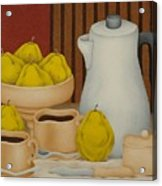 Still Life With Coffee Pot  2005 Acrylic Print