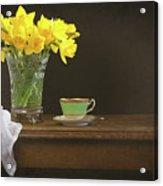 Still Life With Daffodils Acrylic Print
