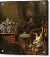 Still Life With Dead Game And A Silver Tureen On A Turkish Carpet Acrylic Print