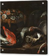 Still Life With Fish And Oysters  Acrylic Print