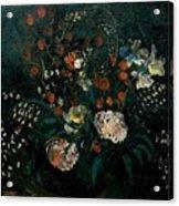 Still Life With Flowers Boris Grigoriev Acrylic Print