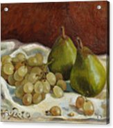 Still Life with French Grapes Acrylic Print