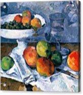 Still Life With Fruit Dish Acrylic Print