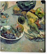 Still Life With Fruit Acrylic Print by Paul Gauguin