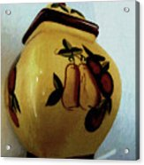 Still Life With Fruited Pottery Acrylic Print