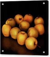 Still Life With Golden Apples Acrylic Print