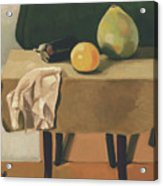 Still-life With Grapefruit Acrylic Print