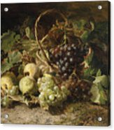 Still-life With Grapes And Pears Acrylic Print