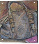 Still Life With Handbag And Notepad Acrylic Print