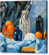 Still Life With Jugs And Oranges Acrylic Print