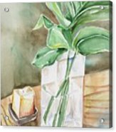 Still Life With Leaf Acrylic Print