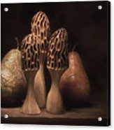 Still Life With Mushrooms And Pears I Acrylic Print