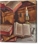 Still Life With Old Books Acrylic Print