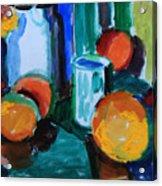 Still Life With Orange Acrylic Print