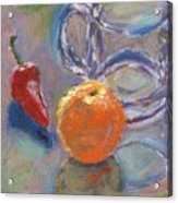 Still Life With Orange Acrylic Print