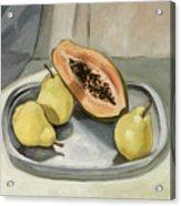 Still Life With Papaya Acrylic Print
