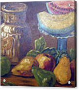 Still Life With Pears And Melons Acrylic Print