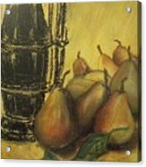 Still Life With Pears Acrylic Print