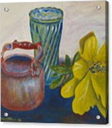 Still Life With Plastic Flower Acrylic Print