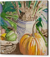 Still Life With Pumpkin Acrylic Print