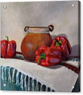 Still Life With Red Peppers Acrylic Print