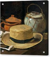 Still Life With Straw Hat, By Vincent Van Gogh, 1881, Kroller-mu Acrylic Print