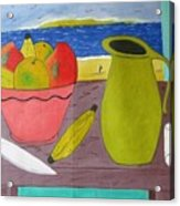 Still Life With Sunsed Acrylic Print