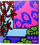 Still Life With The Beatles Acrylic Print by John  Nolan