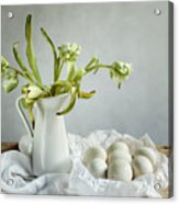 Still Life With Tulips And Eggs Acrylic Print